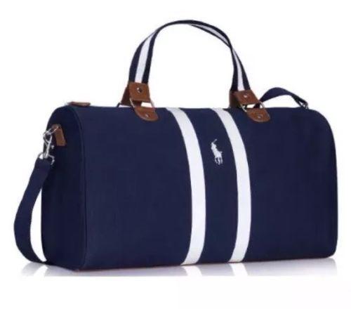 Ralph Lauren Fragrances Dark Navy Blue Holdall Gym Weekend Duffle Bag Ebay