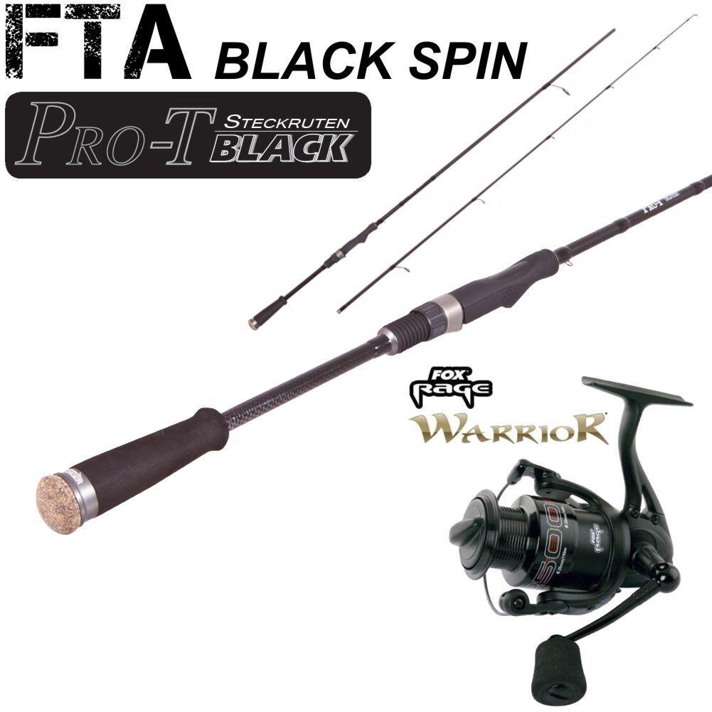 FTA nero SPIN 45 2,10m 15-45g + Fox Rage Warrior 2500