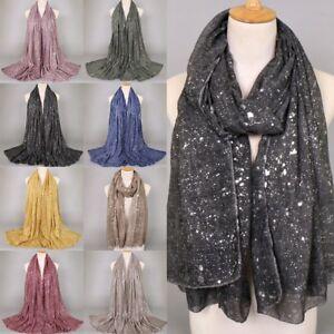 Women-Ladies-Silver-Viscose-Scarf-Shawl-Muslim-Warm-Wraps-Hijab-Stole-Scarves