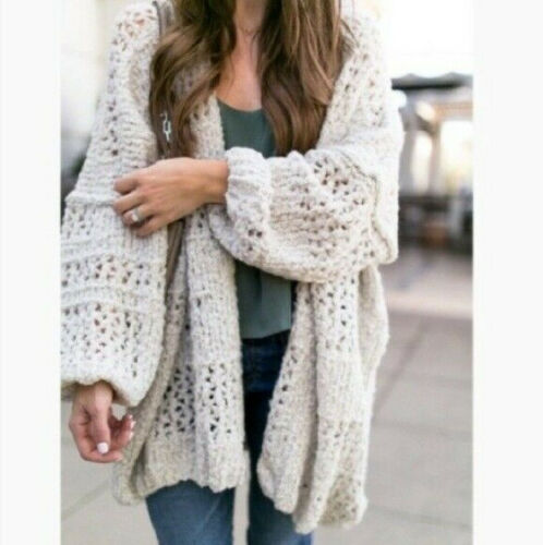 Free People M / L Saturday Morning Knit Oversized