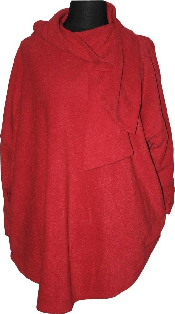 BORIS INDUSTRIES WARMES FLEECE SHIRT GR.46 485 50 52 ROT MIT SCHALKRAGEN