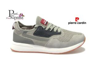 Dettagli su Scarpe da uomo PIERRE CARDIN sneakers sportive eco pelle estive casual PC808 gry