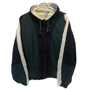 Vintage-Pro-Spirit-Windbreaker-Jacket-Large-Dark-Green-Navy-White-Full-Zip