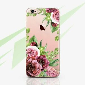 Beautiful Floral Iphone X Xr Xs Rubber Tpu Case Flowers Iphone 6s 7 8 Plus Cover Ebay