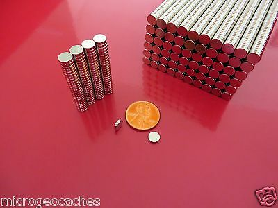 200 Strong Rare Earth Neodymium Disc Magnets 6 x 1.5mm  (1/4  x  1/16 inch)
