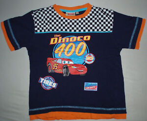Symbol Der Marke Jungen Disney Pixar Cars Mc Queen Kurzarm Shirt Blau Orange Gr. 116 - Wie Neu