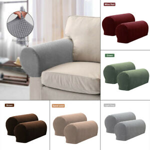 1Pairs Sofa Couch Recliner Armrest Stretch Armchair Covers Chair Arm Protector