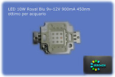 led 10w blu 9-12V 900mA 180lum LED Royal Blue 450nm-455nm per acquario alto lumi