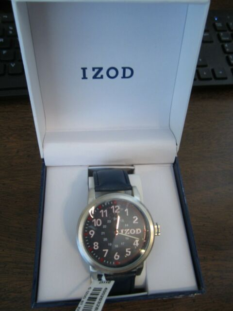 New Men's IZOD Watch, Red and White with Blue Face and Blue Band IZO8004