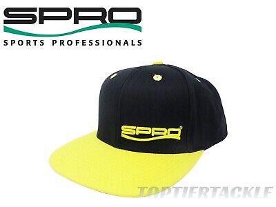 Black SPRO Flat Bill Snapback Fishing Hat