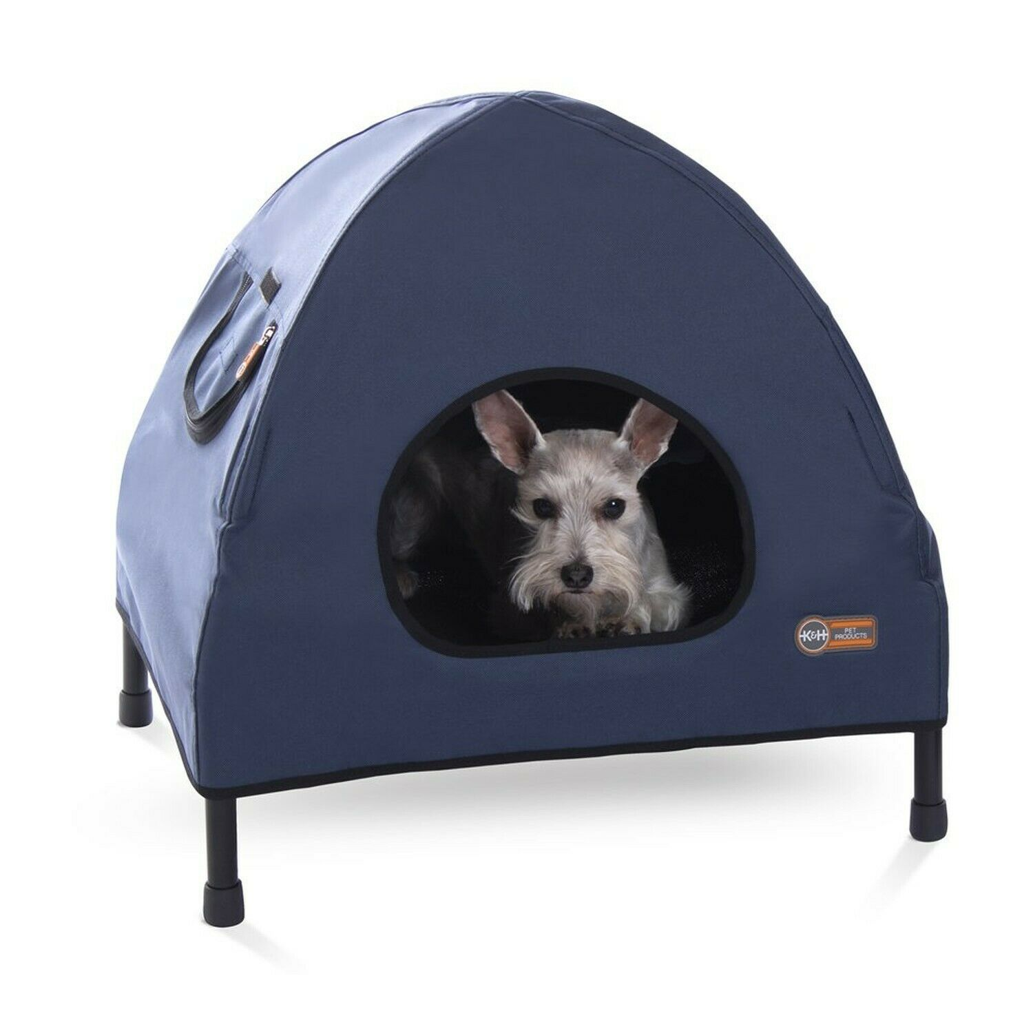 K&H Original Pet Elevated Bed for Dogs Cats, Small Blau S