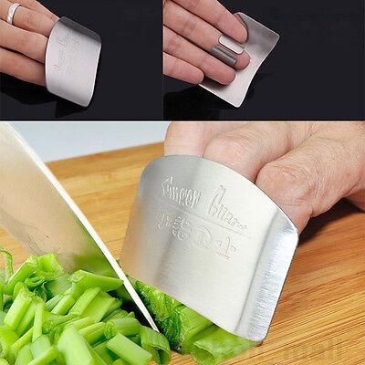Kitchen Stainless Steel Finger Protector Hand Cut Guard Safe Slice Knife Tool FV