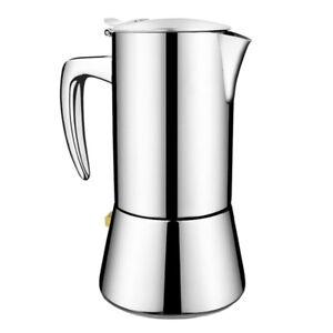 Induktions-, Edelstahl Kaffeekocher Espressokocher Kaffeekanne für Gas-