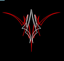 Custom pinstriping decal hot rod sticker