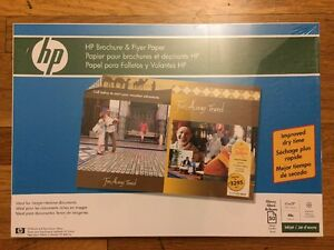 Details about HP Brochure and Flyer Paper, Glossy (50 Sheets, 11 x 17  Inches) 48LB, 98 Bright