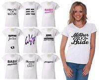 60 Designs Mother's Day Women V-neck T-shirt Mom's Gift White - 6