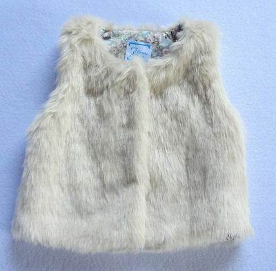 New Baby Girls Toddler Faux Fur Vest Tops Winter Autumn Warn Clothes 2 3 4 5 6T