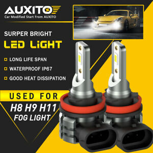 2X AUXITO H11 H16 H8 LED Fog Driving Light 6000K Super Bright...