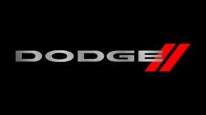 Dodge Logo Black Mirror Outline Finish Lazer Tag Acrylic License Plate