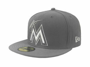 New-Era-Florida-Marlins-Hat-59Fifty-MLB-Cap-League-Basic-Fitted-Hat-Storm-New