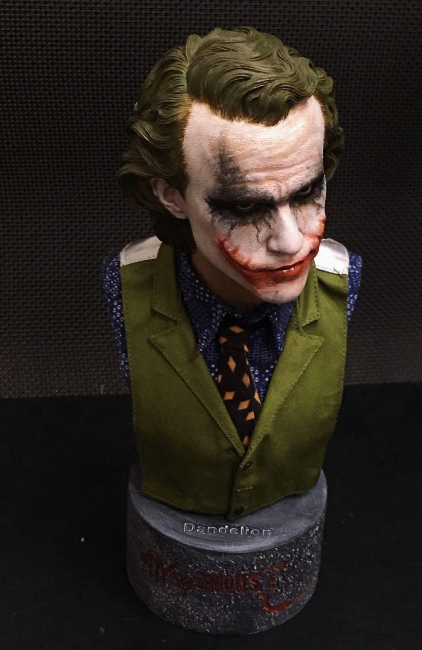 1 3 Batman Guasón Heath Ledger Busto cabeza esculpida HeadJugar estatuto Colección Modelo