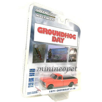 GREENLIGHT 44810 C GROUNDHOG DAY 1971 CHEVROLET C10 1//64 DIECAST RED