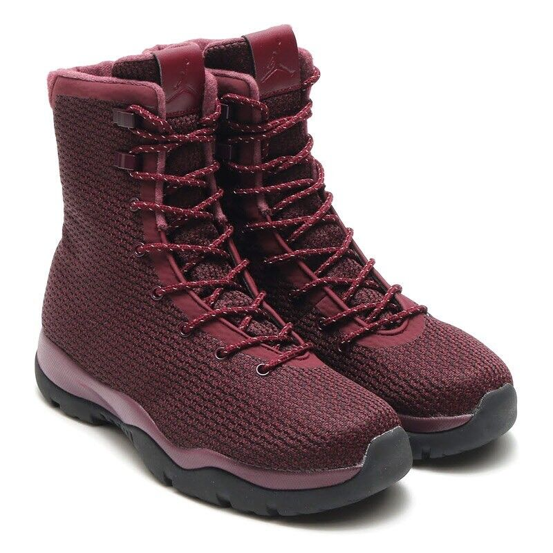 Nike Air Jordan Future Boot Sz 9 Maroon Burgundy Red Black Boots SFB 854554-600