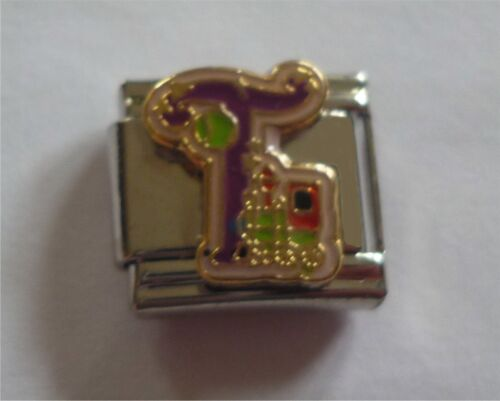 9mm Classic Size Italian Charms Letter Alphabet  Letters T for Train
