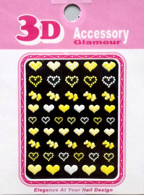 3D Colorful Decal Stickers Nail Art Manicure Tips DIY Decoration Korea