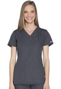 Cherokee Workwear Scrubs Women/'s V Neck Top 4728 WHTW White Free Shipping