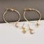 Luxury-Golden-Moon-Star-Drop-Earrings-Rhinestone-Punk-Earrings-for-Women-Jewelry thumbnail 2