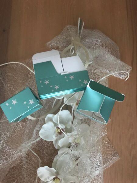 10-80 Geschenkbox Faltschachtel Schachtel Geschenkschachtel Würfel Grün Neu Im Sommer KüHl Und Im Winter Warm
