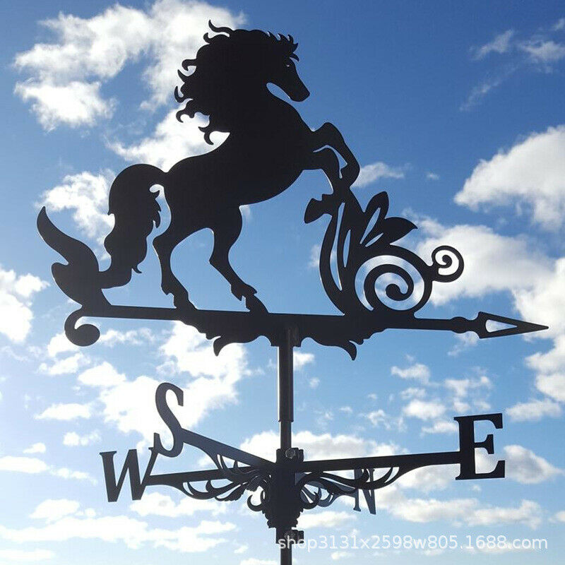 1pc Stainless Steel Weather Vane Outdoor Garden Stake Roof Decor Crafts Ornament