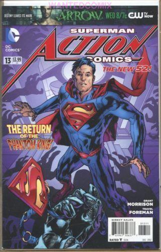 SUPERMAN ACTION COMICS #13 OCT 2012 DC NEW 52 COMIC BOOK PHANTOM KING RETURNS 1