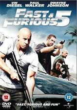 FAST AND THE FURIOUS [5,Five] Vin Diesel*Paul Walker*The Rock Car Crime DVD *EXC