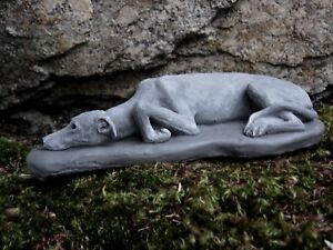 Image Is Loading Greyhound Statue Concrete Dog Statues Memorial Garden