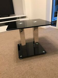 Black-Glass-Coffee-Side-Table