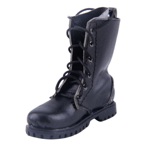 """1:6 Scale Black MARTIN boots military Shoes Model fit for 12/"""" Action Figure Toys"""