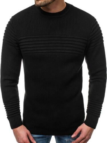 Pullover A Maglia Manica Lunga Top Felpa Pullover OZONEE o//6011 Uomo