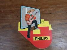 PLV Publicitaire carton PHILIPS vers 1970 Joueur de Guitare Espagnol TELEVISION