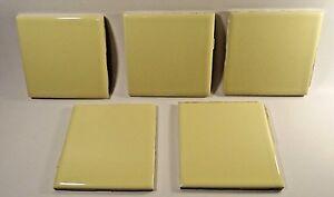 Fine 1 Inch Hexagon Floor Tiles Huge 12 X 12 Ceramic Tile Solid 12X24 Floor Tile Designs 16X16 Ceiling Tiles Young 1X1 Ceiling Tiles Dark2 X 4 Ceiling Tile Reclaimed Vintage Yellow Florida Ceramic Tile Lot Of Five(5 ..