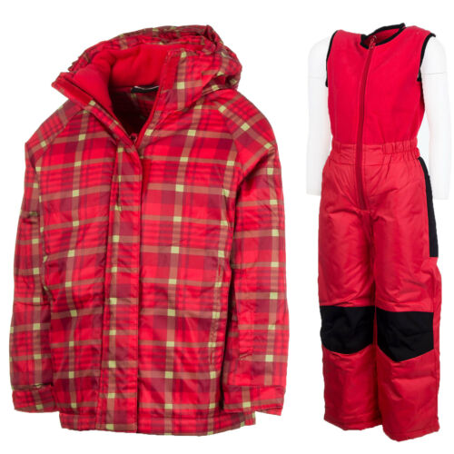 Schneeanzug Skianzug 2Tlg Kinder Mädchen Jungen Snowboard Gr.128 Rot neu 42501cc