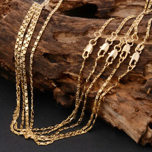Men-Women-16-30-034-18K-Yellow-Gold-Chain-Necklace-Link-Chain-Fashion-Jewerly