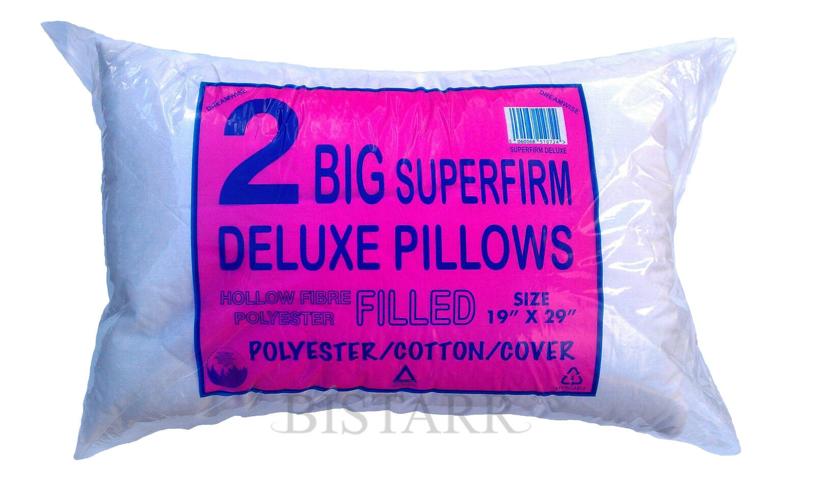 Firm Support Large Quilted Pillow Bounce Back Pillows OR Duvet Tog Memory Foam