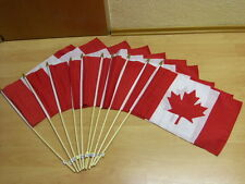 Fahnen Flagge 10 x Kanada Canada Stockflagge - 30 x 45 cm