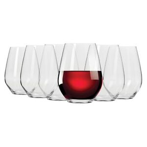 NEW-Krosno-Flair-Stemless-Red-Wine-Glass-550ml-Set-of-6