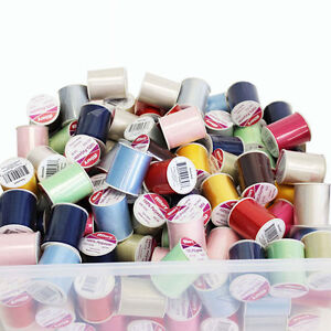 24-Pack-Assorted-Colors-Allary-100-Polyester-Threads-200-Yds-Sewing-Threads