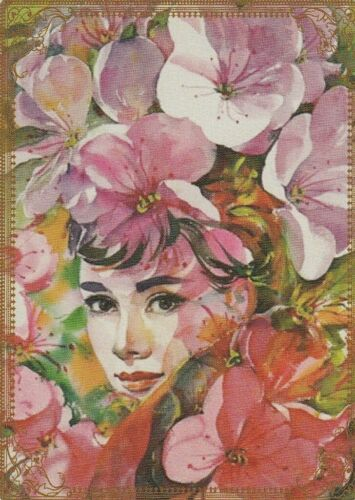 Modern Wide Linen Flower Ladies P2 Lady No 7 Swap Playing Card