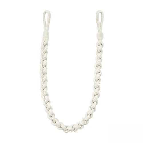 2 Helston Rope Curtain Tiebacks Braided Drape Tie back Fabric Plaited Chain Ties