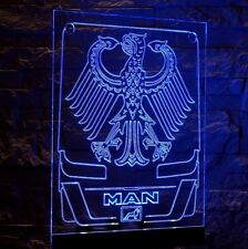 Trucker LKW Namensschild  LED Panel MAN  Emblem von Deutschland 12-24v